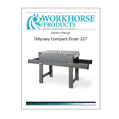Odyssey Compact Dryer 227 Owners Manual