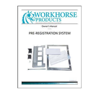 Pre-registration System Owners Manual