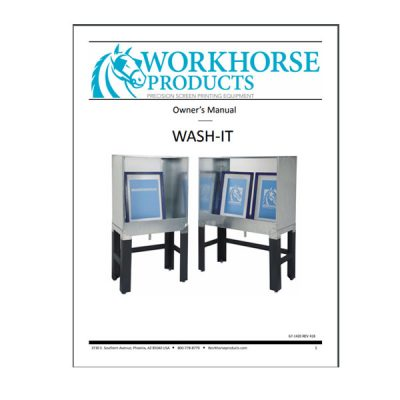 Wash It Booths Owners Manuals