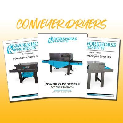 Conveyer Dryer Manuals